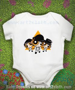 A Puffwork Orange Baby Onesie