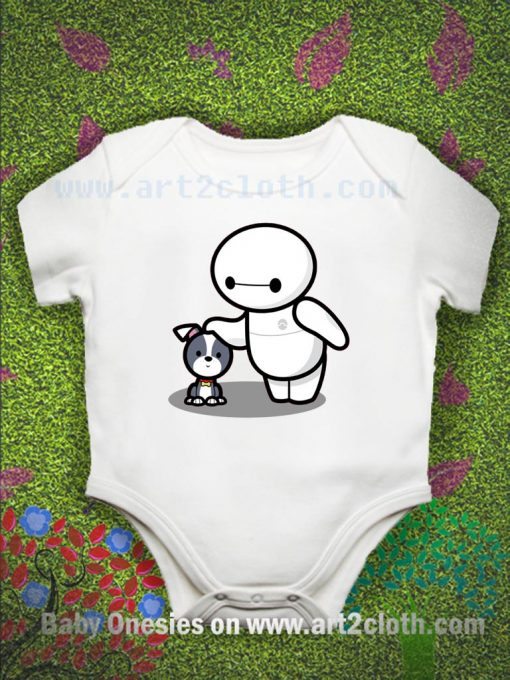 Baby Baymax And Dog Baby Onesie