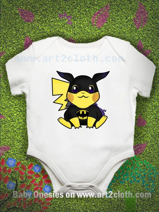 Pikachu Mashup Batman Baby Onesie