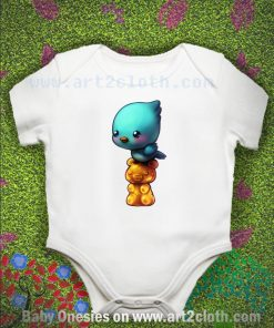Bird On A Gummy Bear Baby Onesie
