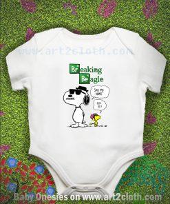 Snoopy And Woodstock Breaking Beagle Baby Onesie