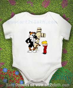 Calvin & Hobbes - StackedImages Baby Onesie
