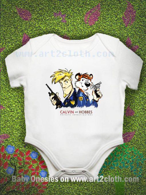 Calvin and Hobbes - P.I Baby Onesie