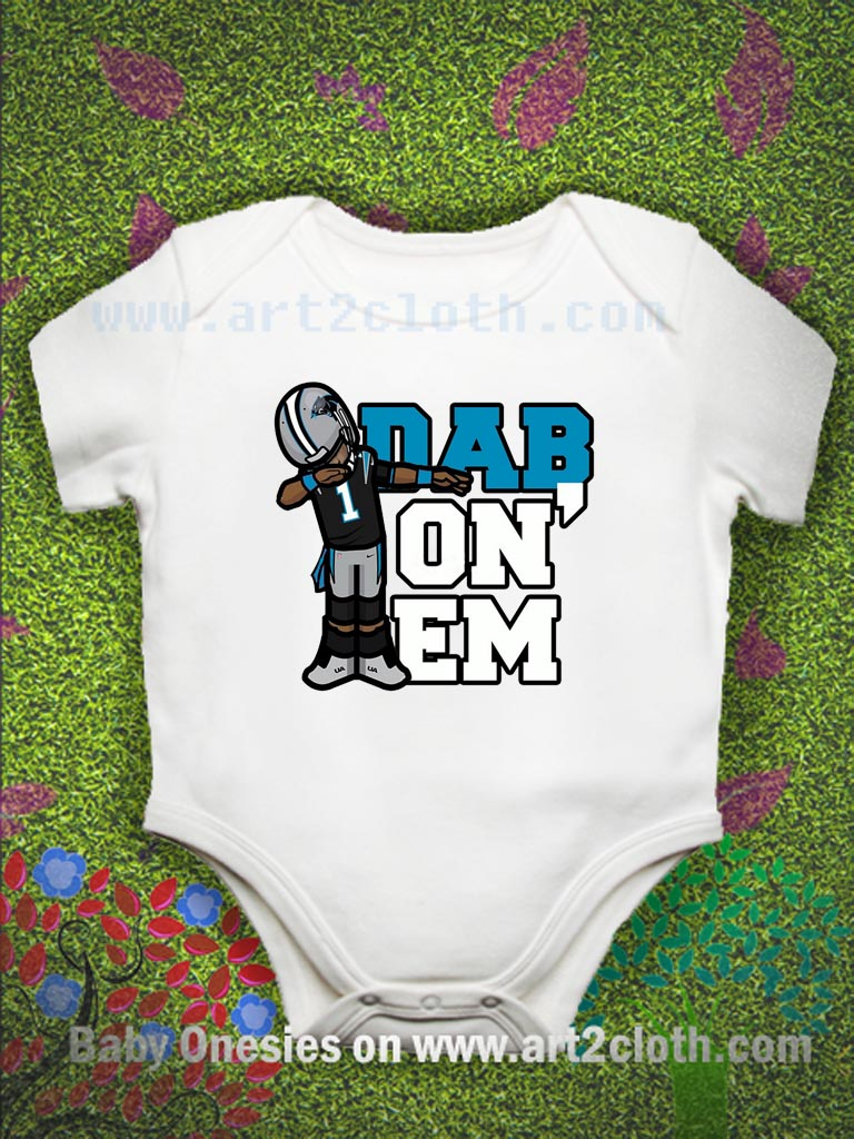 Dab On Em Carolina Panther Baby Onesie  d0e24837b