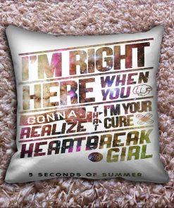Heartbreak 5 Seconds of Summer Nebula Pillow Case