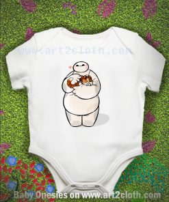 Baymax And Mochi Warm Hug Baby Onesie