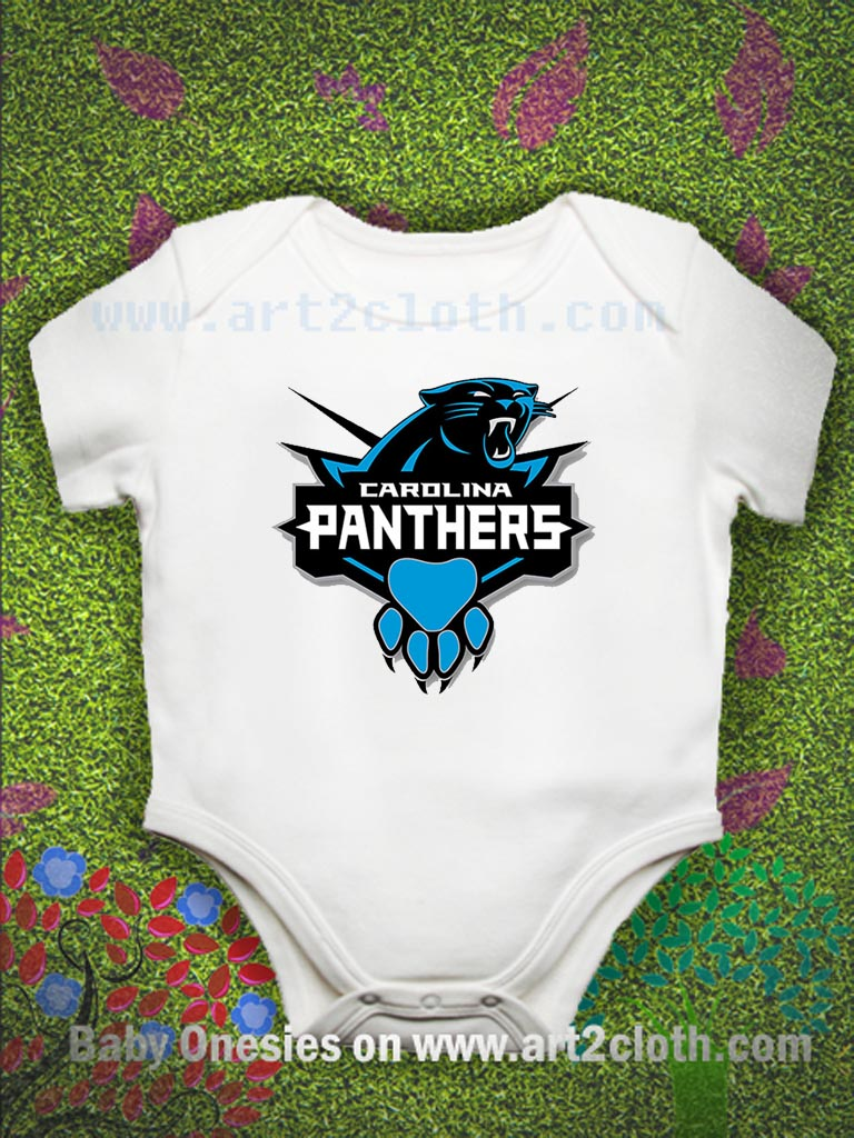 affe6a472 Carolina Panther Baby Onesie | Cheap Custom T Shirts - Art2cloth.com