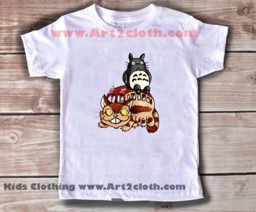Kids Clothes Catbus and Totoro A Fun Ride