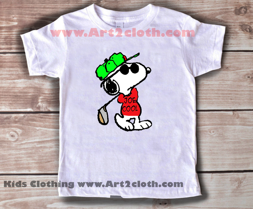 Kids Clothes Snoopy Joe Cool And Golf Cheap Custom T