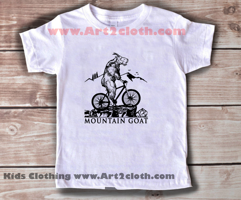 Kids Clothes Funny Quote Mountain Goat Cheap Custom T
