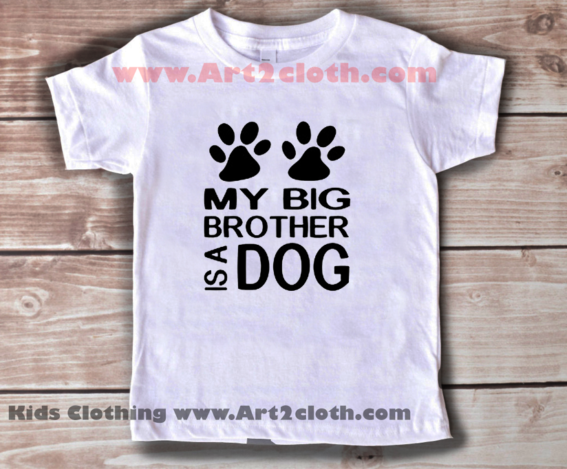 Kids clothes funny quote personalized my big brother for Personalized t shirts for kids cheap