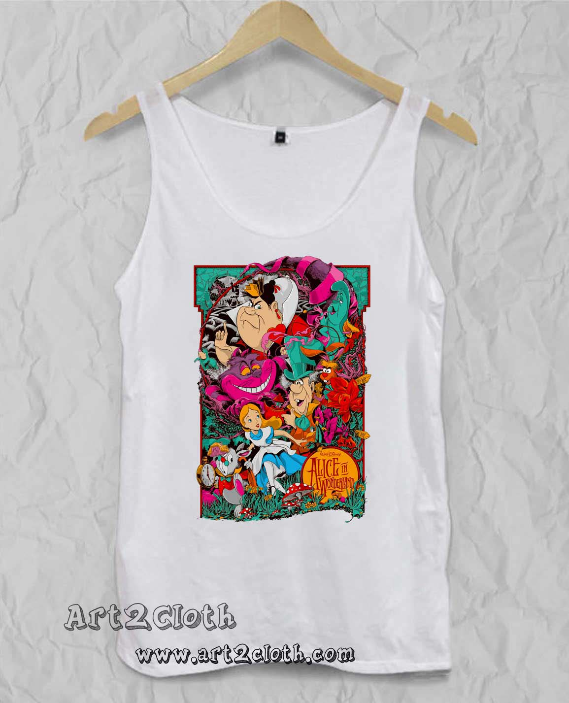 ed0fb233 Alice in Wonderland Unisex Adult Tank Top | Cheap Custom T Shirts ...