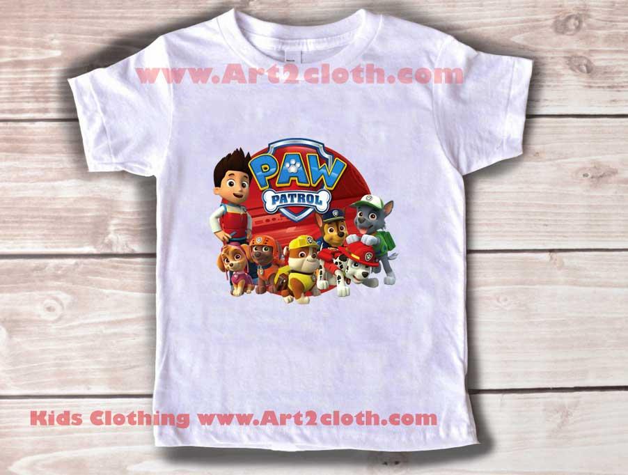 de081917d Kids Clothes Paw Patrol Team | Cheap Custom T Shirts - Art2cloth.com