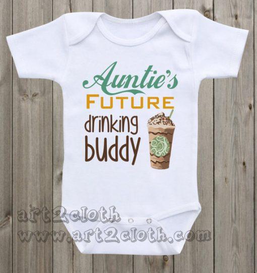 Auntie's Future Drinking Buddy Baby Onesie