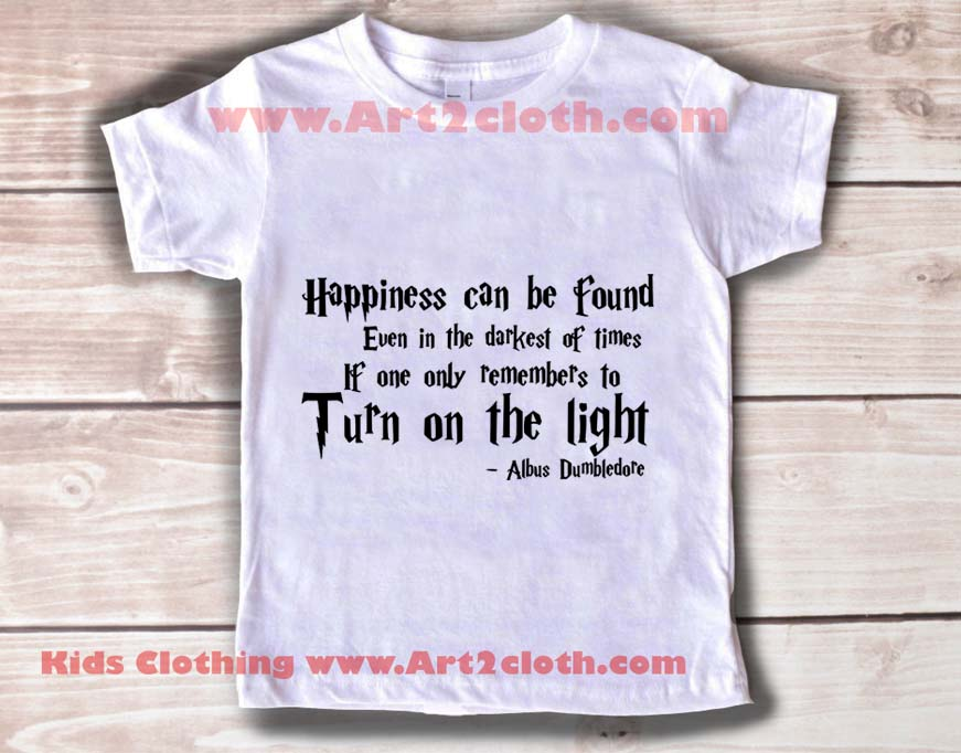 kids clothes happiness harry potter quotes cheap custom t shirts