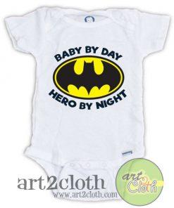 Batman Baby by Day Baby Hero Night Onesie Baby Onesie