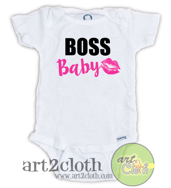 Boss Baby Kiss Baby Onesie Cheap Custom T Shirts