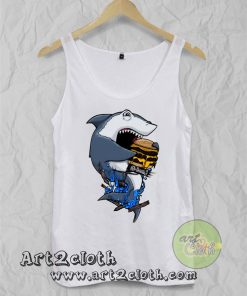 Burger Shark Unisex Adult Tank Top