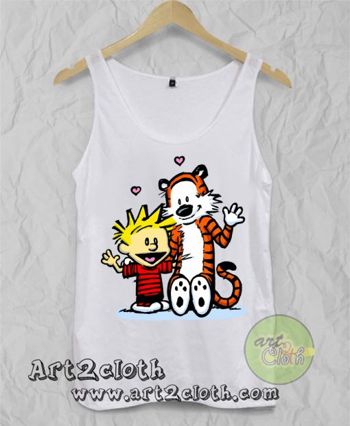 Calvin and Hobbes Say Hello Unisex Adult Tank Top