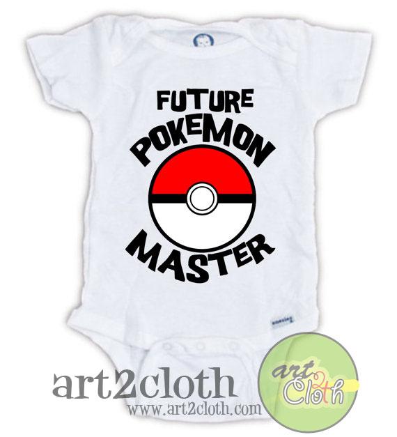 Future Pokemon Master Baby Onesie | Cheap Custom T Shirts ...