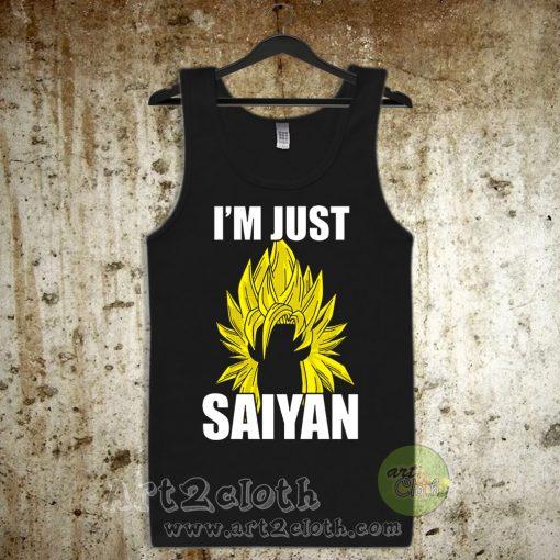I'm Just Saiyan Unisex Adult Tank Top