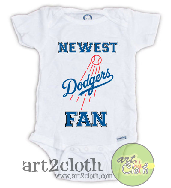 Los Angeles Dodgers Fan Baby Onesie Cheap Custom T Shirts