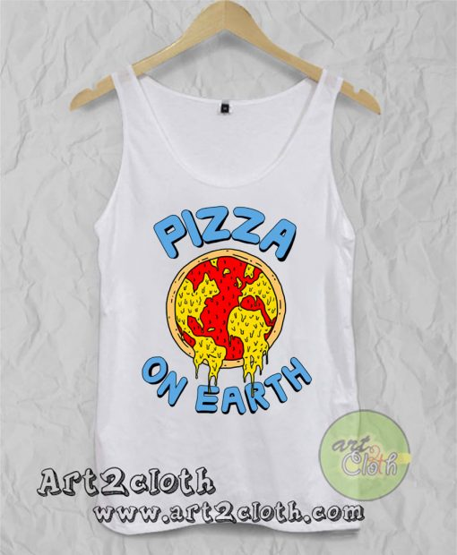 Pizza On Earth Unisex Adult Tank Top