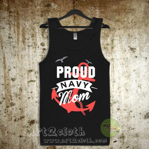 Proud Navy Mom Unisex Adult Tank Top