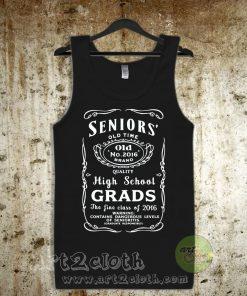 Seniors High School Vintage Unisex Adult Tank Top
