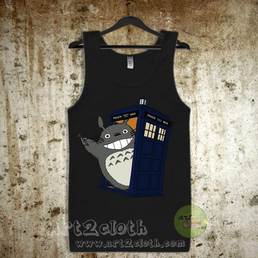 Totoro Meets The Tardis Unisex Adult Tank Top