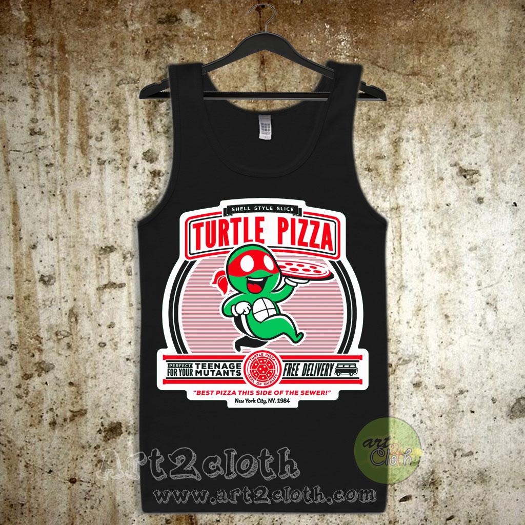 6af483c0c55a14 Turtle Pizza Unisex Adult Tank Top