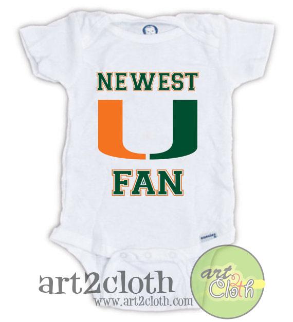 HURRICANES College Football FAN Baby Onesie