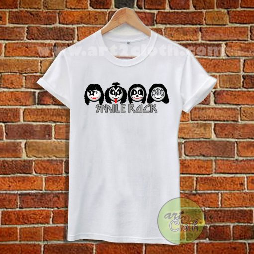 Kiss Parody Smile Rock T Shirt