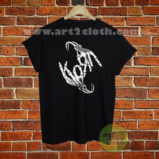 Korn Band Skeleton T Shirt