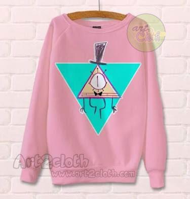 Gravity Falls Bill Cipher Pink Unisex Sweatshirts