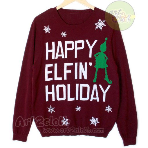Happy Elfin Holiday Unisex Sweatshirts