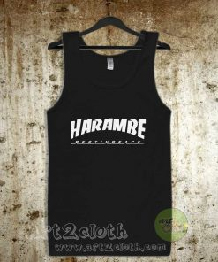 Harambe Rest In Peace Unisex Adult Tank Top