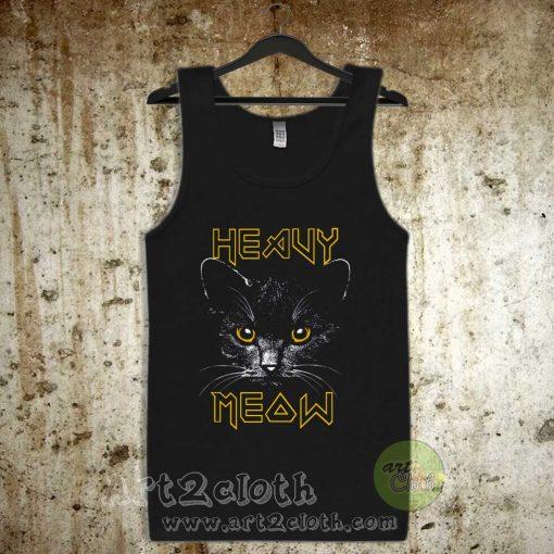 Heavy Meow Heavy Metal Style Unisex Adult Tank Top