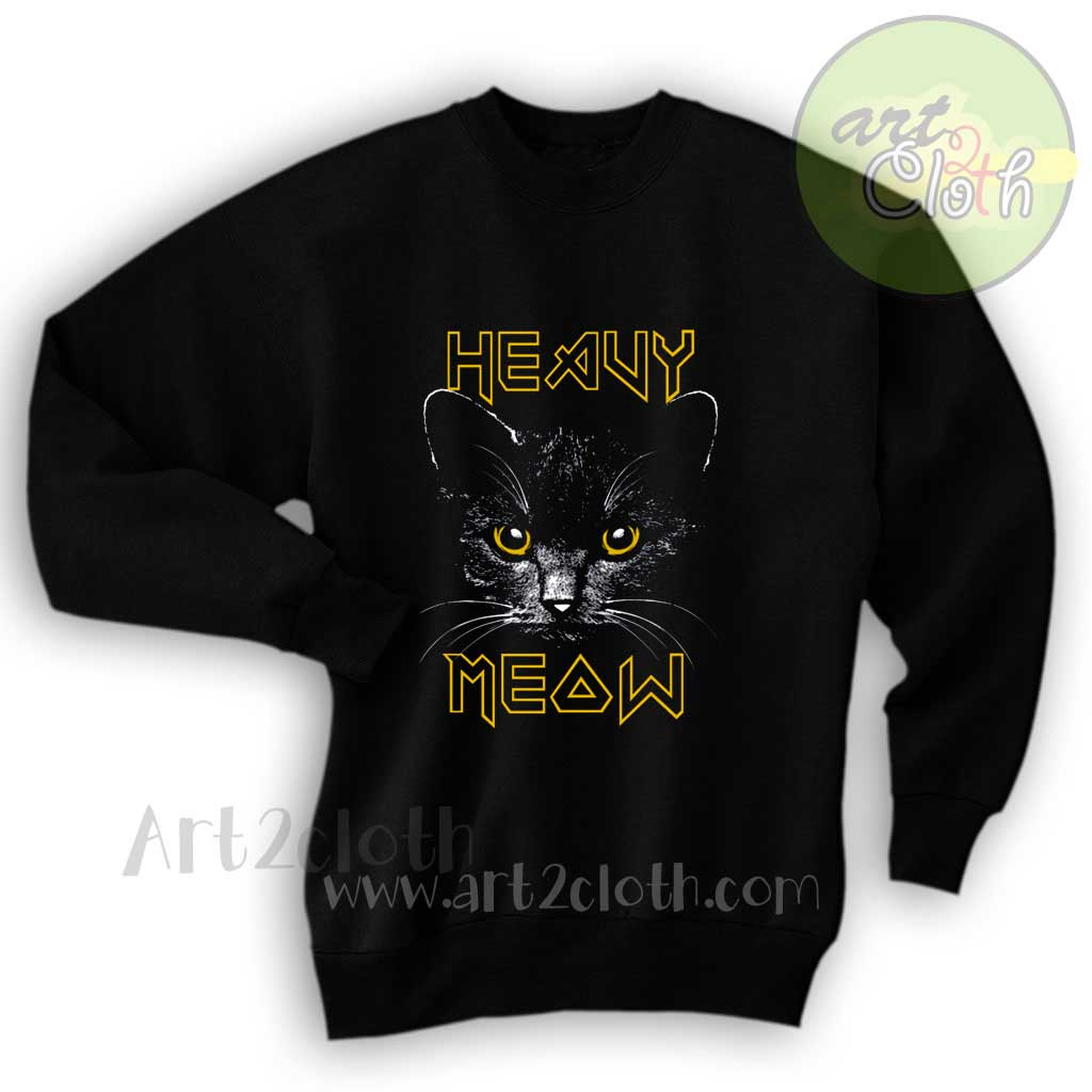 318447b6b8 Heavy Meow Heavy Metal Style Unisex Sweatshirts | Cheap Custom T ...