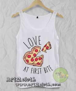 Love At First Bite Pizza All Unisex Adult Tank Top