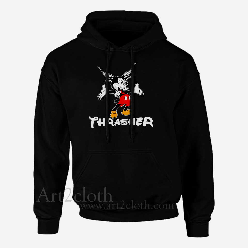 ce32bbc865be Thrasher Magazine Mouse Goat Unisex Hoodie ,Funny Hoodie ,Quotes ...