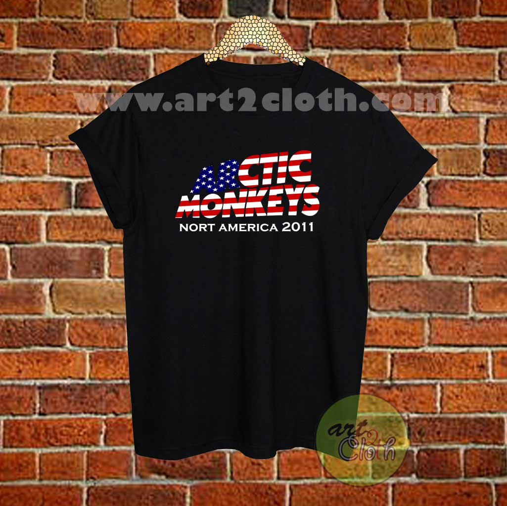 ccf9aa668 Arctic Monkeys North American 2011 T Shirt Size XS,S,M,L,XL,2XL,3XL ...