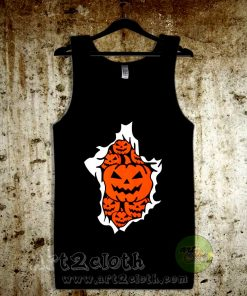 Halloween Pumpkins Burst Unisex Adult Tank Top