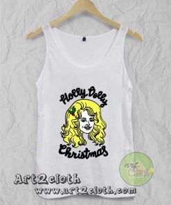 Holly Dolly Christmas Unisex Adult Tank Top