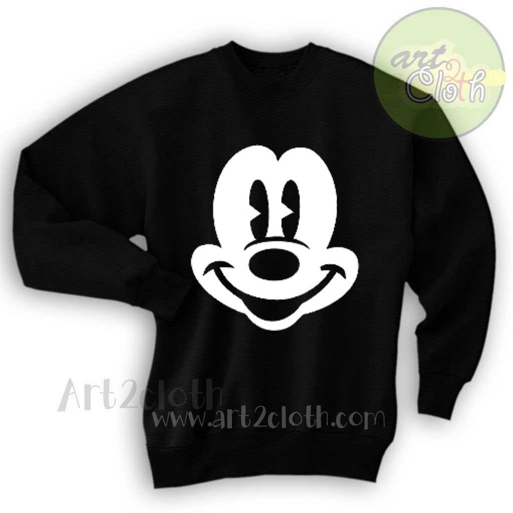 01ef07e47 Mickey Mouse Face Unisex Sweatshirts | Cheap Custom T Shirts ...