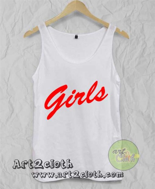 A Girls Red Unisex Adult Tank Top