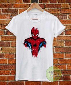 Spiderman Watercolor T Shirt