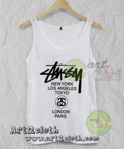 Stussy World Tour Unisex Adult Tank Top