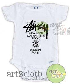 Stussy World Tour Baby Onesie