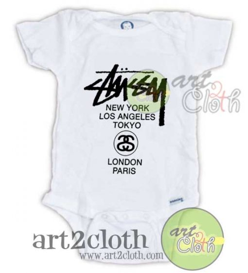 Stussy World Tour Baby Onesie